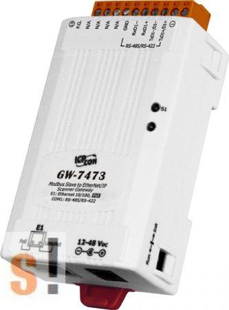 GW-7473  # Átjáró/Gateway/Modbus Slave - EtherNet/IP Scanner/PoE/RS-422/485, ICP DAS