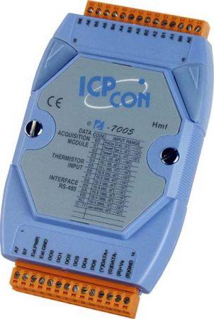I-7005 # I/O Modul/DCON/8AI-Hőelem/6DO, ICP DAS