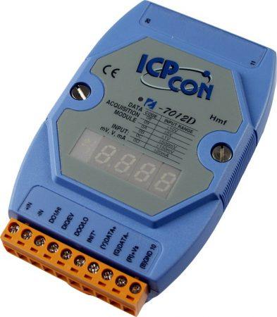 I-7012D # I/O Module/DCON/1AI/2DO/1DI/LED,  ICP DAS