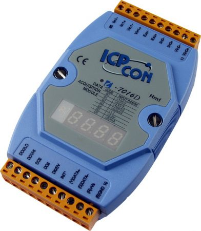 I-7016D # I/O Module/DCON/2AI/Strain Gauge/4DO/1DI, LED, ICP DAS