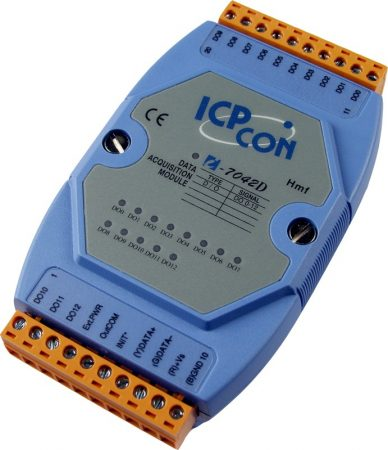 I-7042D # I/O Module/DCON/13DO/O.C./LED, ICP DAS