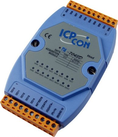 I-7043D # I/O Module/DCON/16DO/O.C/LED, ICP DAS