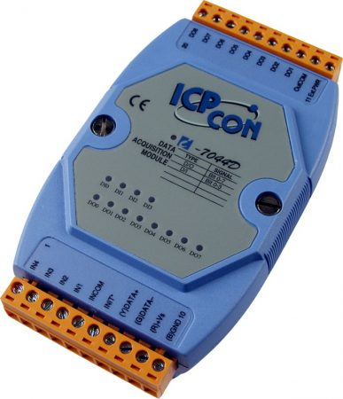 I-7044D # I/O Module/DCON/8DO/O.C./4DI/LED, ICP DAS, ICP CON