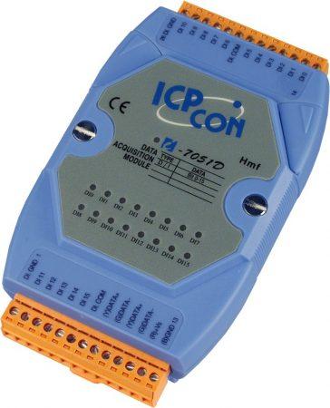 I-7051D # I/O Module/DCON/16DI/LED, ICP DAS, ICP CON