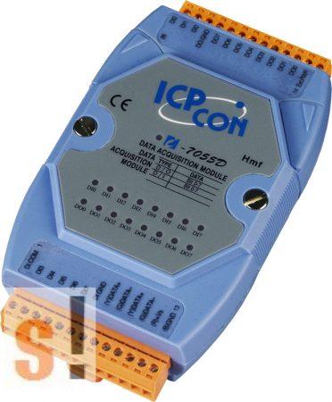 I-7055D # I/O Module/DCON/8DI/8DO/LED kijelző ICP DAS, ICP CON