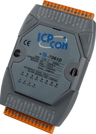 I-7061D # I/O Module/DCON/12 Relay Power/LED, ICP DAS, ICP CON