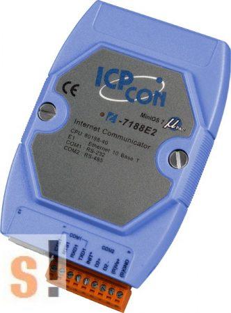 I-7188E2 # Device Server/Ethernet - RS-232/485 konverter/ 1x RS-232 és 1x RS-485 port/ICP DAS