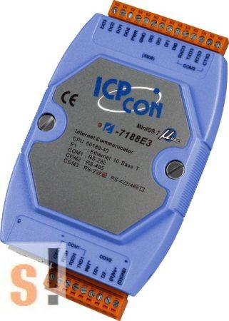 I-7188E3-232 # Device Server/Ethernet - RS-232/485 konverter/ 2x RS-232 és 1x RS-485 port/4x DI, 4x DO, ICP DAS