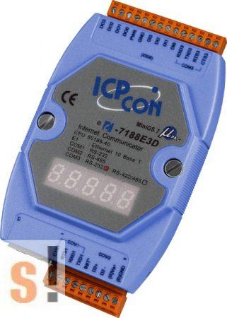 I-7188E3D-232 # Device Server/Ethernet - RS-232/485 konverter/ 2x RS-232 és 1x RS-485 port/4x DI, 4x DO/LED, ICP DAS