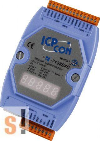 I-7188E4D # Device Server/Ethernet - RS-232/485 konverter/ 3x RS-232 és 1x RS-485 port/LED, ICP DAS