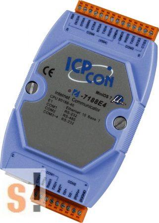 I-7188E4 # Device Server/Ethernet - RS-232/485 konverter/ 3x RS-232 és 1x RS-485 port, ICP DAS