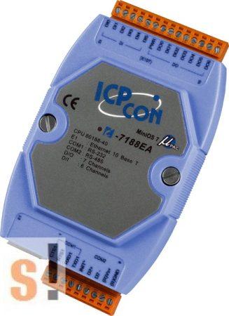 I-7188EA # Controller/MiniOS7/C nyelv/Ethernet/2x DI/2x DO, ICPDAS