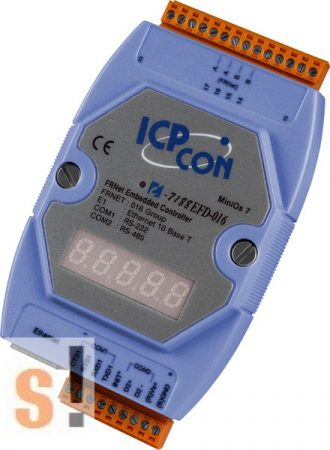 I-7188EFD-016 # Controller/Frnet/MiniOS7/C nyelv/LED, ICP DAS