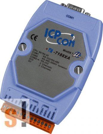 I-7188XA # Controller/Nincs Ethernet/MiniOS7/C nyelv/2x DI/2x DO, ICP DAS