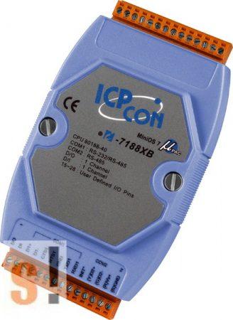 I-7188XB-512 # Controller/Nincs Ethernet/MiniOS7/C nyelv/1x DI/1x DO, ICP DAS