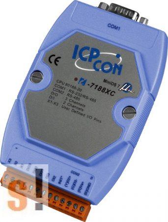 I-7188XC-512/RTC  # Controller/Nincs Ethernet/MiniOS7/C nyelv/2x DI/3x DO/RTC/NVRAM, ICP DAS