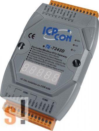 I-7242 D # Átjáró, Gateway/DeviceNet Slave - ModbusRTU Master/LED, ICP DAS