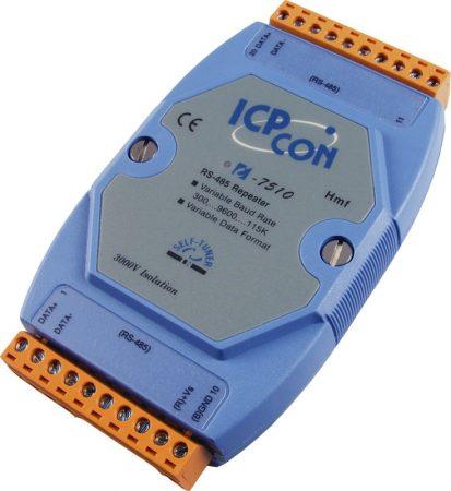 I-7510 # Szigetelt BACnet MS/TP és Modbus RTU kompatibilis RS-485 vonalerősítő/Repeater/leválasztó/3000Vdc szigetelés, ICP DAS