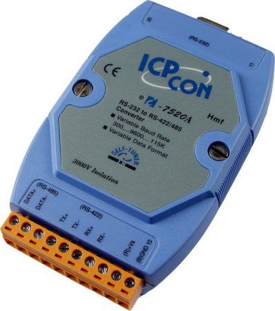 I-7520A #  RS-232 - RS-422/485 konverter, szigetelt, ICP DAS