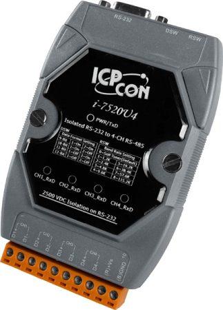 I-7520U4 # Konverter/ 4 Hub / RS-232 - 485 / 2 baud mód, ICP DAS