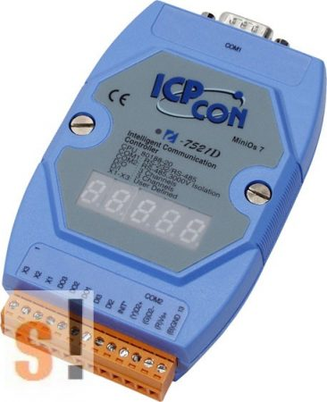 I-7521D # Konverter/1x RS-232/485, 1x RS-485, 2x DI, 3x DO/LED, ICP DAS