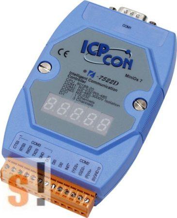 I-7522D # Konverter/1x RS-232/485/1x RS-485/1x RS-232 port/2x DI/1x DO/LED, ICP DAS