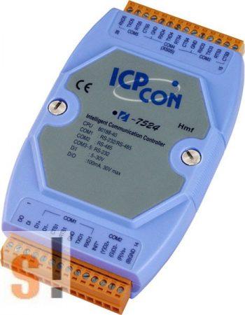 I-7524 # Konverter/1x RS-232/485, 1x RS-485, 3x RS-232, 1x DI, 1x DO, ICP DAS