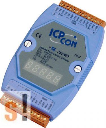 I-7524D # Konverter/1x RS-232/485, 1x RS-485, 3x RS-232, 1x DI, 1x DO/LED, ICP DAS