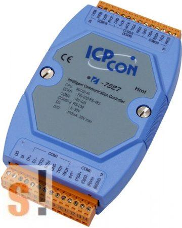 I-7527 # Konverter/1x RS-232/485, 1x RS-485, 6x RS-232, 1x DI, 1x DO, ICP DAS