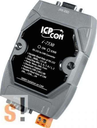 I-7530FT # Intelligens, hibatűrő RS-232 - CAN konverter, Konverter/RS-232 - CAN/szigetelt/hibatűrő, ICP DAS