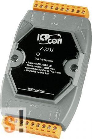 I-7531 # CAN vonalerősítő, repeater, szigetelt, 3kV, ICP DAS