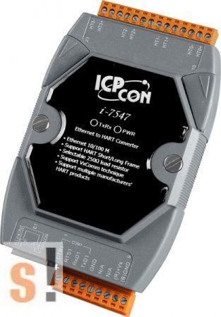 I-7547 # Konverter/Ethernet - HART/ 4 csatorna, ICP DAS