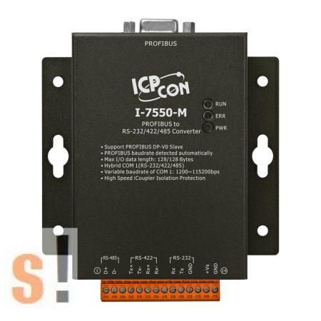 I-7550-M # Profibus - RS-232/422/485 konverter/Fém készülékház, ICP DAS