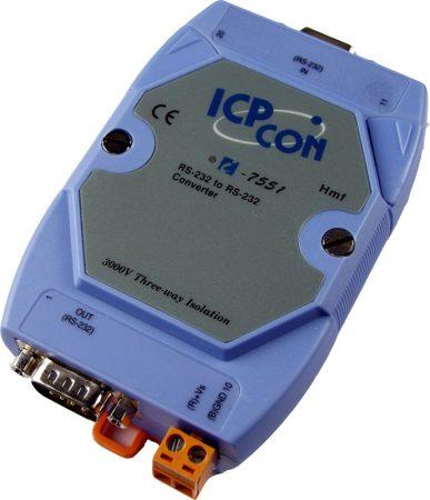 I-7551 # szigetelt RS-232 - RS-232 vonalerősítő, leválasztó, ICP DAS