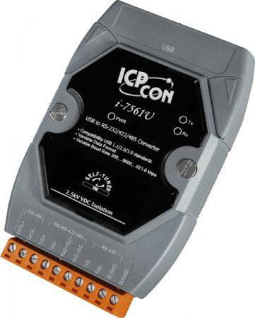I-7561U # szigetelt USB - RS-232/422/485 konverter, Windows XP/7/8/8.1/10 driver, ICP DAS