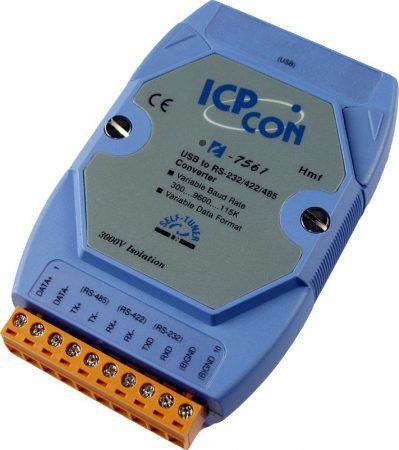I-7561 # szigetelt USB - RS-232/422/485 konverter, Windows XP/7/8/8.1/10, ICP DAS
