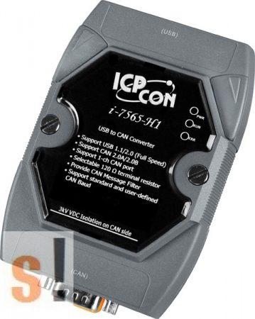 I-7565-H1 # Intelligens, gyors USB - CAN konverter, 1x CAN port, ICP DAS
