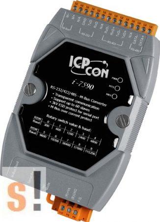 I-7590 CR # RS-232/422/485 -- M-Bus konverter/100 M-Bus slave, ICP DAS