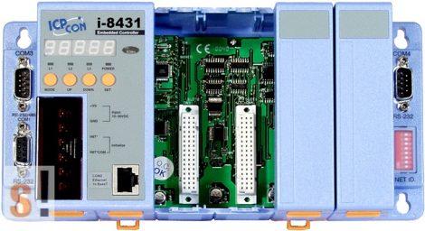 I-8431-80 # Controller/Intel80186/MiniOS7/C nyelv/4 hely/512K, ICP DAS
