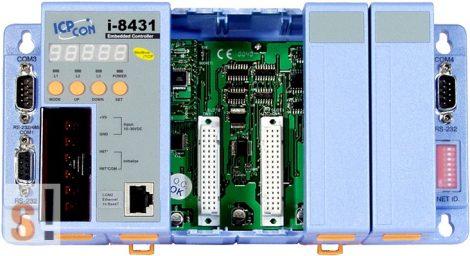 I-8431-MTCP # Controller/Intel 80188/Modbus TCP/4 hely/512KB, ICP DAS