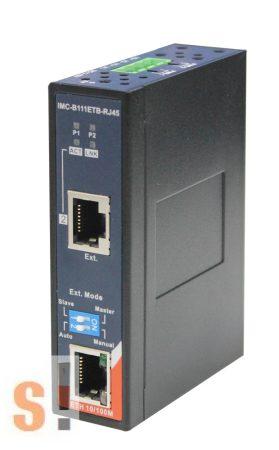 IMC-B111ETB-RJ45 # Ethernet extender/hosszabbító 300 meterig/Media konverter 1x 10/100TX (RJ-45) + 1x 100Mbps extender (RJ-45)/-40 to 75°C/Duál 12 ~ 48VDC tápfesz/ ORing
