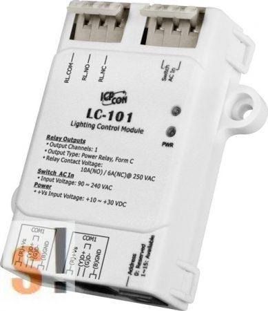 LC-101 CR # I/O Modul/Modbus RTU/1x DI AC/1x relé kimenet, ICP DAS