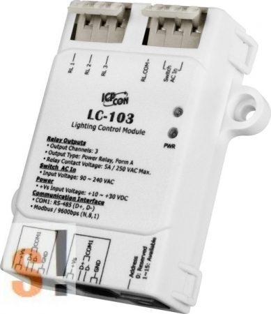 LC-103 # I/O Module/Modbus RTU/1x DI AC/3x relé kimenet, ICP DAS