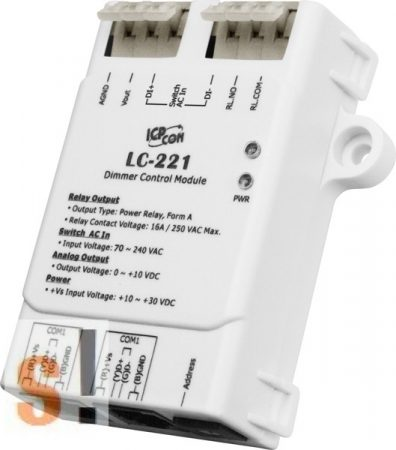LC-221 # Dimmer vezérlő modul/Modbus RTU/1 csatornás, ICP DAS