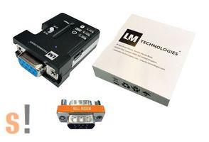 LM048 # Bluetooth - RS-232 soros adapter/100 méter távolság/DCE-DTE kapcsoló/LM Technologies