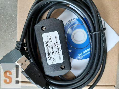 LOGO!USB-CABLE # USB programozó kábel/Siemens LOGO!/1000 Vdc szigetelt/6ED1 057-1AA01-0BA0 /AMSAMOTION