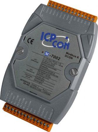 M-7002 # I/O Module/Modbus RTU/4AI/4DO Relay/5DI, ICP DAS