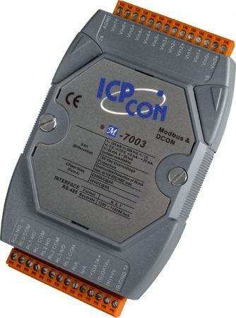 M-7003 # I/O Module/Modbus RTU/8AI/4DO Relay, ICP DAS, ICP CON
