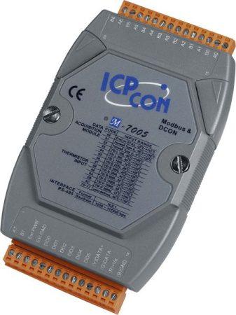 M-7005 # I/O Modul/Modbus RTU/8AI-Hőelem/6DO, ICP DAS