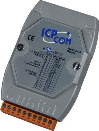 M-7011 # I/O Module/Modbus RTU/1AI/TC/2DO/1DI, ICP DAS